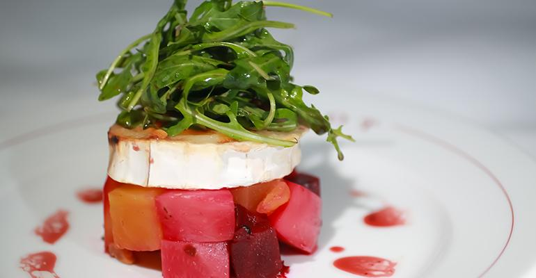 Warm beets and goat cheese