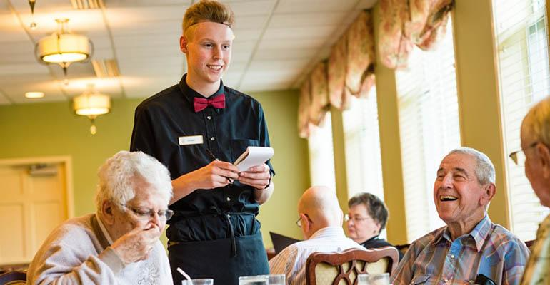 Homestead Village offers formal dining service at dinner