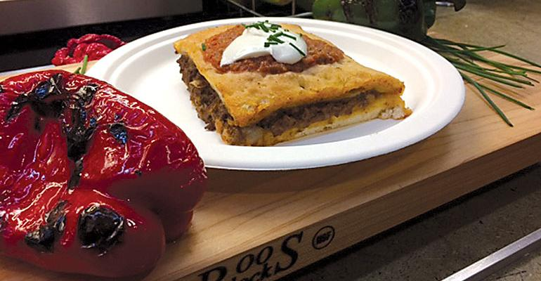 MEX ON THE MENU Taco pie at Case Western