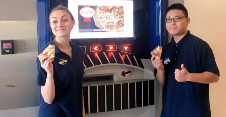 Xavier39s new Pizza ATM delivers medium sized pies with a variety of topping choices for 9
