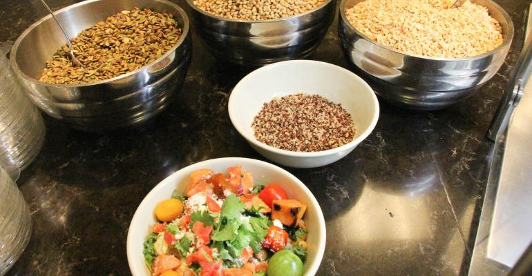 The new BowlsChef James station at Vanderbilt is based on superhealthy grains as the basis of customized onebowl dishes