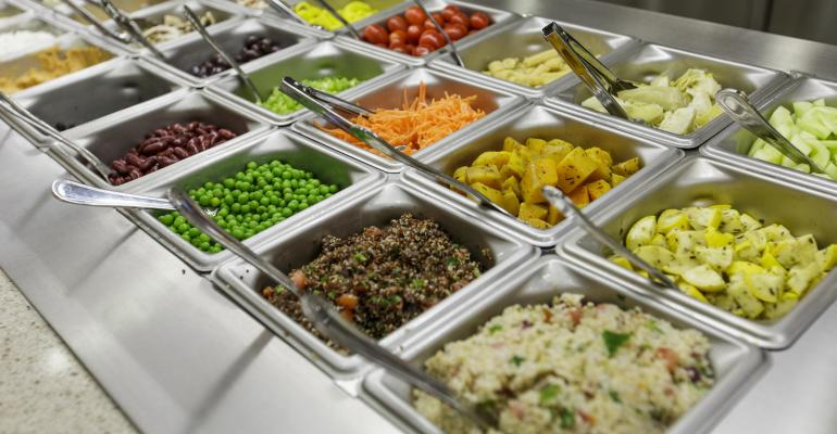 An array of healthful choices await customers on the fully stocked Chandler salad bar