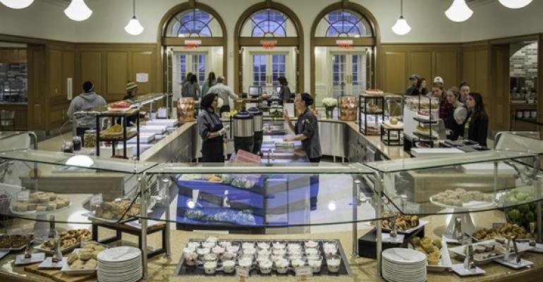 The new Hoover Hall brings food to the forefront and allows for action stations something the college39s old dining halls lacked