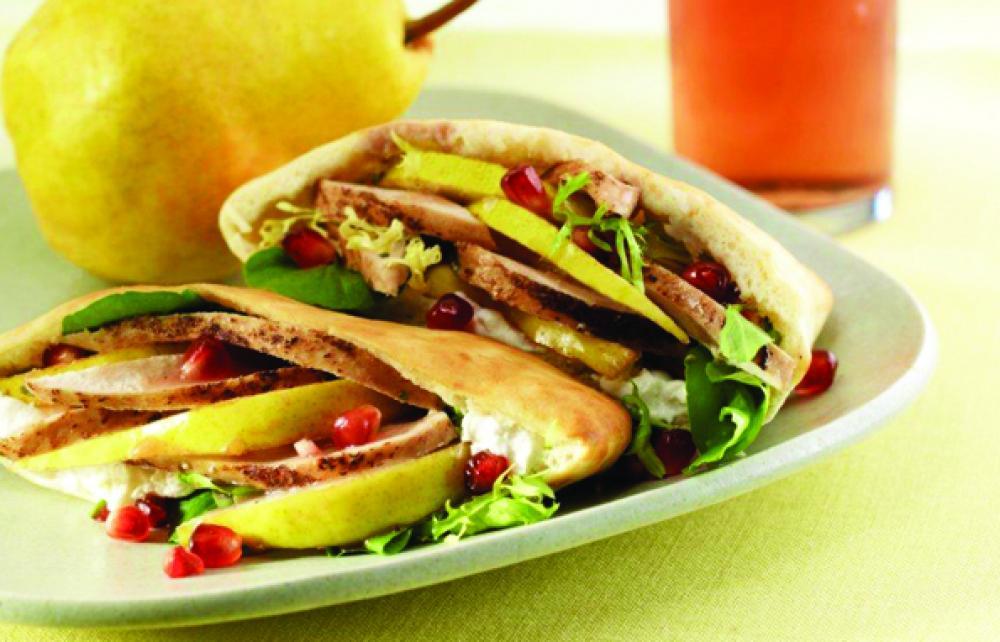 Casablanca Pear and Chicken Sandwich