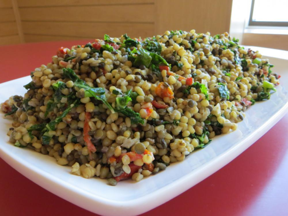 Wheat Berry, Lentil and Kale Salad