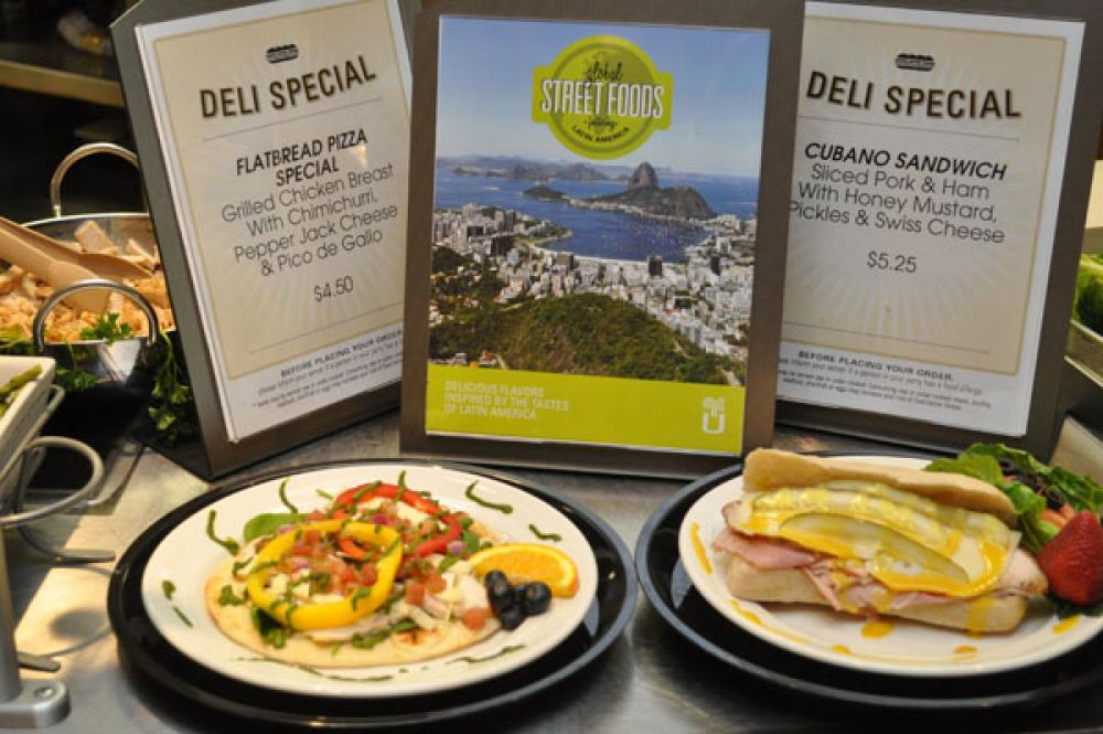 A MexicanSouth American fusion flatbread left and a classic Cubano sandwich are part of a grabandgo meets street food promotion at Fauquier Hospital