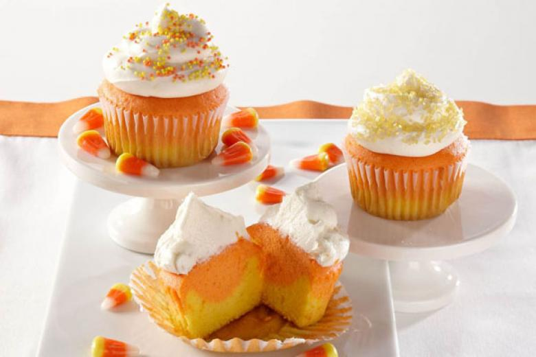 Candy Corn Cupcakes.