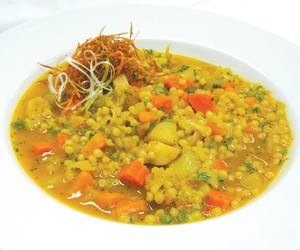 Vegetable Curry Stew with Whole Wheat Israeli Couscous from Robert Manfre of Wyoming Seminary Prep School (PA)