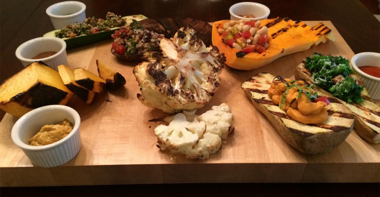 C u trends veggie carving station meal option food